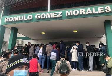 En el centro de Salud Rómulo Gómez de La Guardia hubo una masiva asistencia.