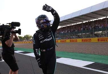 Hamilton es candidato a ganar el GP de Gran Bretaña. Foto: AFP