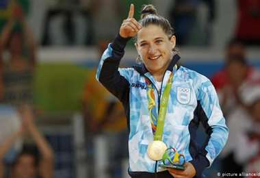 Paula Pareto, judoca argentina. Foto: internet