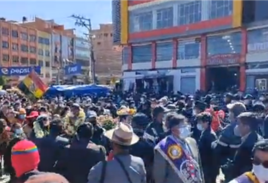 La masiva festividad en El Alto I Captura.
