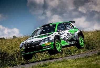 Marco Bulacia participa en la séptima fecha del campeonato mundial de rally. Foto: Bulacia