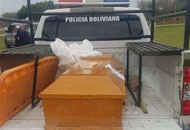 Restos del hombre victimado a balas/Foto: Jorge Ibáñez