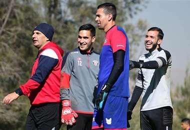 Jugadores de Wilstermann en un entrenamiento. Foto: Los Tiempos