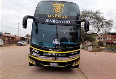 El bus involucrado en el accidente