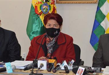 Foto archivo: la viceministra Aurea Balderrama informó sobre el abandono educativo