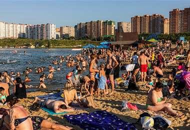 Así luce una playa en Rusia