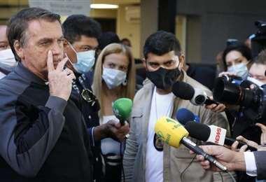 Bolsonaro fue dado de alta este domingo