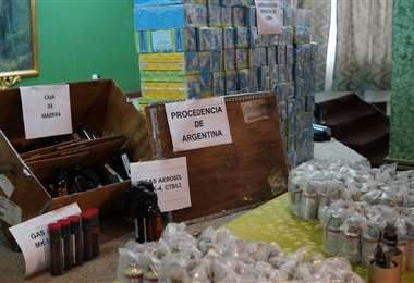 Armamento presentado por las autoridades I Bolivia Tv y Gobierno.