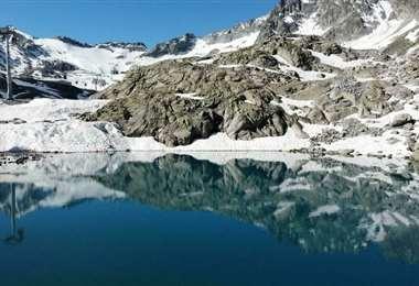 Deshielo de los glaciares en los Alpes suizos. Foto: AFP