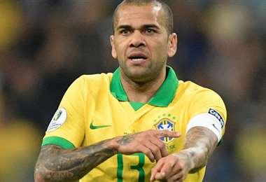 Dani Alves, capitán de la selección brasileña. Foto: internet