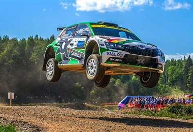 Marco Bulacia hizo una gran carrera en el rally de Estonia. Foto: MB