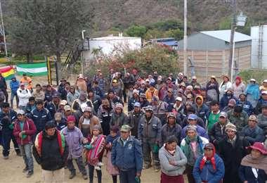 La protesta fue instalada el lunes. Fotos: Javier Ramos