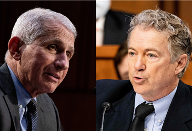 Anthony Fauci y Rand Paul tuvieron un acalorado debate. Foto. Internet