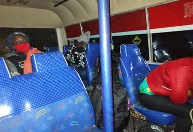 Los cuatro vehículos fueron retenidos en la localidad Yacuses de Puerto Suárez.
