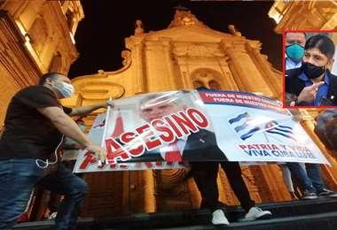 En días pasados se registraron protestas en el centro de la urbe cruceña