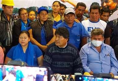Juan Evo Morales estuvo reunido con las bases del MAS en Beni