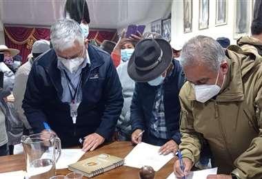 El aata fue firmada en las últimas horas
