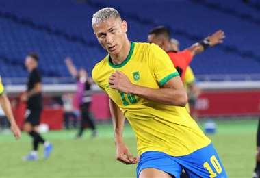 Richarlison fue la figura de Brasil al marcar tres goles. Foto: AFP