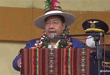 El presidente Arce en Betanzos I ABI.