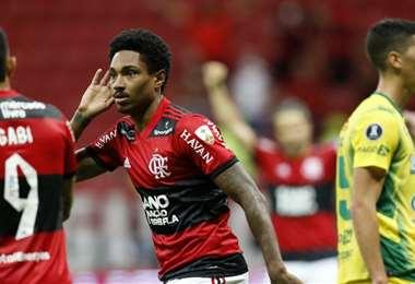 El campeón vigente de la Libertadores, Flamengo, sigue en carrera. Foto: AFP