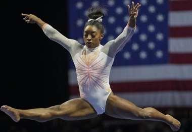 La gimnasta estadounidense Simone Biles va por el oro. Foto: Internet