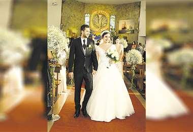 Felices. Ramón y Gloria, luego de jurarse amor eterno