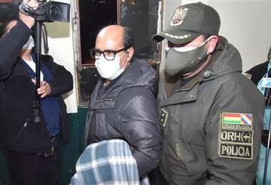 El exasesor cuando llegó a la DELCC en La Paz