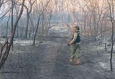 Los incendios ya afectan a la región cruceña
