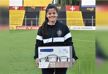 La imagen fue publicada por el club de la joven deportista
