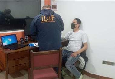 Tonchy Bascopé fue aprehendido la semana pasada al salir de la cárcel de Palmasola.