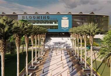 El frontis de lo que será el Bloming Arena. Foto: Studio 3
