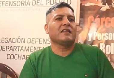 El exmilitar que fue apuñalado en Chonchocoro
