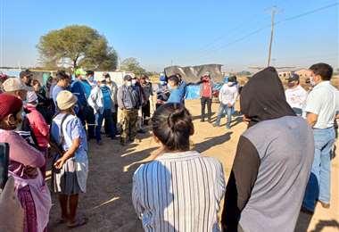 El INRA notificó a las 70 familias que ingresaron de forma ilegal a un predio en Pailón