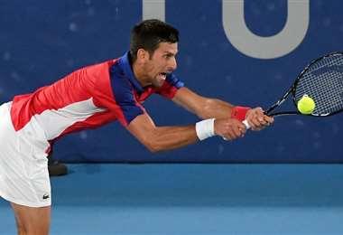 Novak Djokovic fue contundente ante el local Noshikori. Foto: AFP