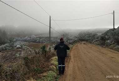 Hielo y nieve en los Valles cruceños