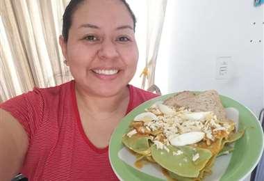 Alumna del curso de Cocina Saludable