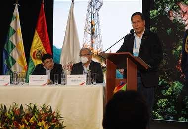 El presidente Luis Arce destacó el proyecto de exploración de YPFB