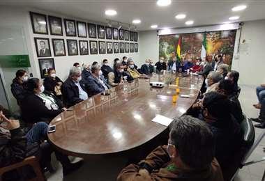 Este jueves por la tarde se reunió el directorio ampliado del Comité Cívico.