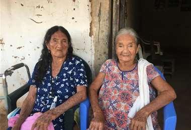 Estefanía y Benedicta Chaví Justiniano/Foto: Gilmar Vidal