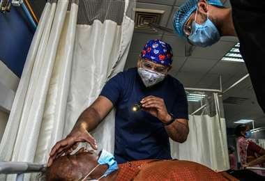 En India se dio una epidemia por hongo negro a causa del covid /Foto: New York Times