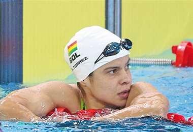 Karen Tórrez, nadadora boliviana de 29 años. Foto: internet