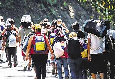 Son miles los que salen de Venezuela en busca de un futuro mejor