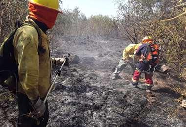 Los bomberos sofocaron el incendio Foto: Rescate Urbano