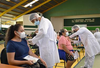 En la UPSA se vacunará sábado y domingo. Foto. Internet
