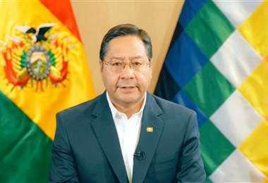 El presidente de Bolivia, Luis Arce I archivo.