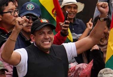 Luis Fernando Camacho durante las protestas de octubre. Foto: Archivo