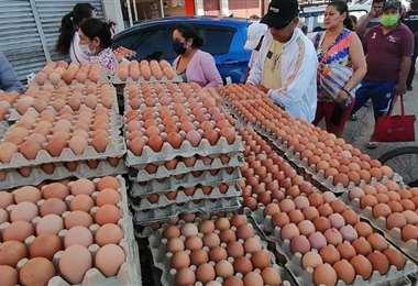 El sector avícola también es afectado por el contrabando. Foto referencial. EL DEBER