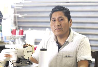 Félix Huaycho, líder de la Federación de Micro y Pequeños Empresarios. Foto. Jorge Ibáñez