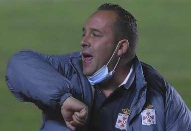 David Perdiguero, durante el partido de Real SC ante The Strongest. Foto: APG Noticias