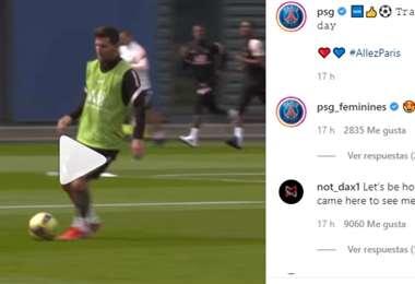 Captura de pantalla del video publicado por el PSG en Instagram
